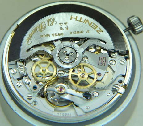 Zenith El Primero movement after servicing at Genesis Watchmaking