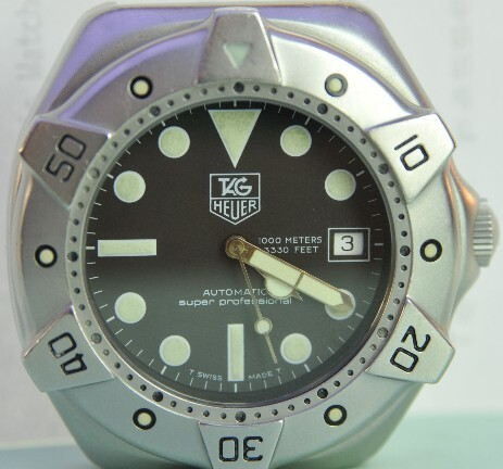 Tag Heuer Super Professional watch waterproof to 1000M